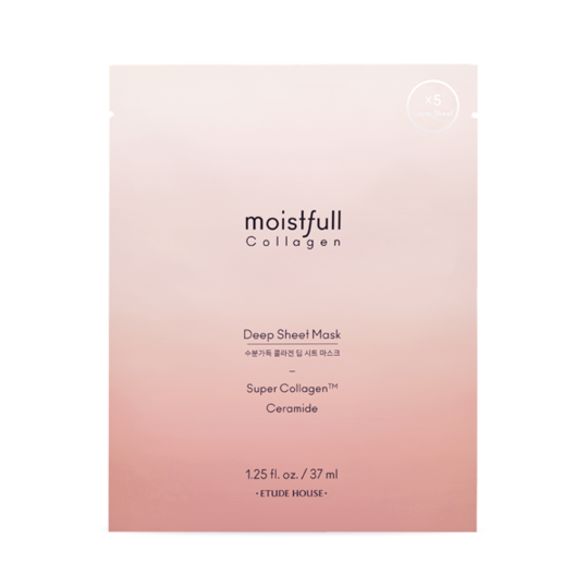 [ETUDE HOUSE] Moistfull Collagen Deep Sheet Mask (37mlx5sheets)