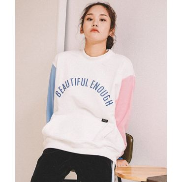 MOTIVE STREET - COLOR BLOCK SWEATSHIRT IVORY