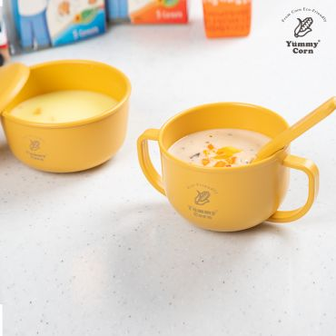 YUMMY CORN TWO HANDLED TODDLERS BABY KIDS SNACK CUP