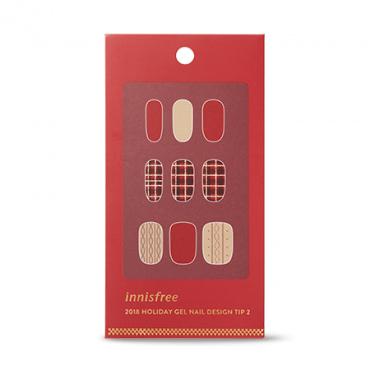 Innisfree-Green Christmas Limited Edition Gel Nail Design Tip - No.2