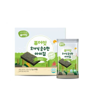 [NAEBRO] PURE-EAT Organic Roasted Seaweed(12P) (1.5g*10Packets*12)