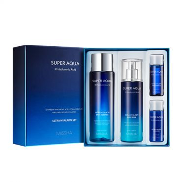 [MISSHA] Super Aqua Ultra Hyalron 2 Step Gift Set