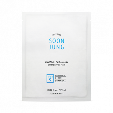ETUDE HOUSE - Soonjung Panthensoside Sheet Mask (5 sheets)