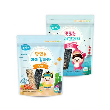 [NAEBRO] PURE-EAT Delicious Seaweed Snack (Three 2-Type Set: Sesame, Grains) (20g*6)