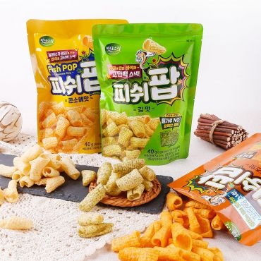 Badasori - FishPOP pollock snack 40g * 3 packs(Consomme/Laver/Cheese Mix)