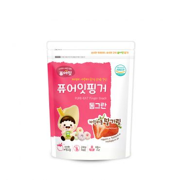 [NAEBRO] PURE-EAT Finger Brown Rice Xylitol Strawberry Ring (40g*6)