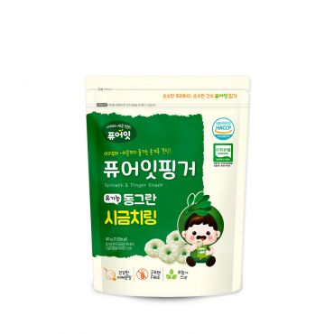 [NAEBRO] PURE-EAT Finger Organic Spinach Ring(40g*6)