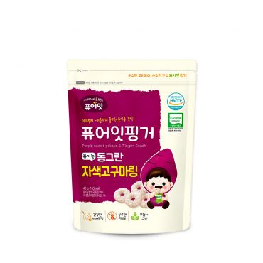 (100P) [NAEBRO] PURE-EAT Finger Organic Purple Sweet Potato Ring (40g*100)