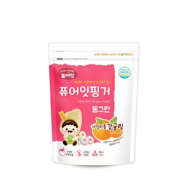 [NAEBRO] PURE-EAT Finger Brown Rice Xylitol Tangerine Ring (40g)