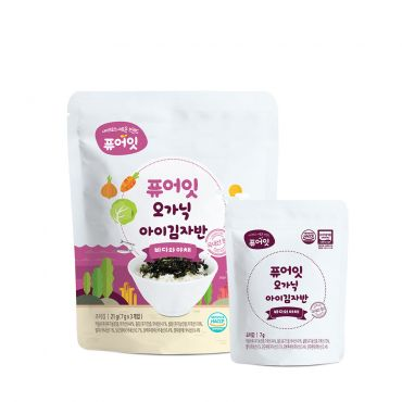 [NAEBRO] PURE-EAT Organic Gimjaban (7g*3Packets)
