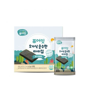 [NAEBRO] PURE-EAT Organic Seasoned Seaweed(2P) (2g*10Packets*2)
