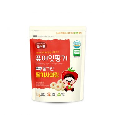 [NAEBRO] PURE-EAT Finger Organic Strawberry Apple Ring(6P) (40g*6)