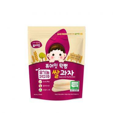 [NAEBRO] PURE-EAT Organic Purple Sweet Potato Pop Rice Snack(6P) (30g*6)