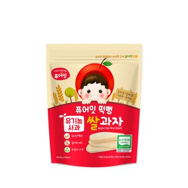 [NAEBRO] PURE-EAT Organic Apple Pop Rice Snack(6P) (30g*6)