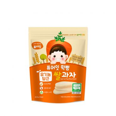 [NAEBRO] PURE-EAT Organic Carrot Pop Rice Snack(6P) (30g*6)