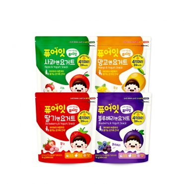 (4P) Fruit & Yogurt Snack(4-Type Set: Mango, Apple, Blueberry, Strawberry) (16g*4)