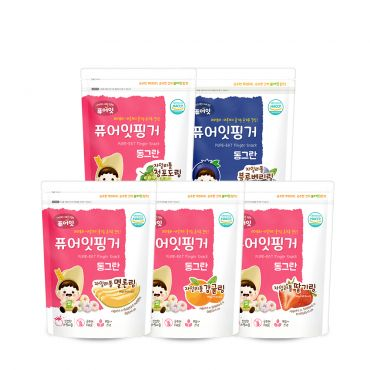 (5P) Brown Rice Xylitol Fruit Ring(5-Type Set: Green Grape, Strawberry, Tangerine, Melon, Blueberry) (40g*5)