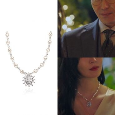 MINWHEE ART JEWELRY - K-Drama Penthouse, Pearl Diamond Necklace