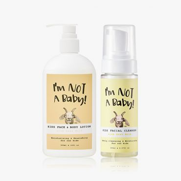 INAB_Kids Face and Body Lotion with Goat Milk 300ml Kids Facial Cleanser 150ml With Goat Milk