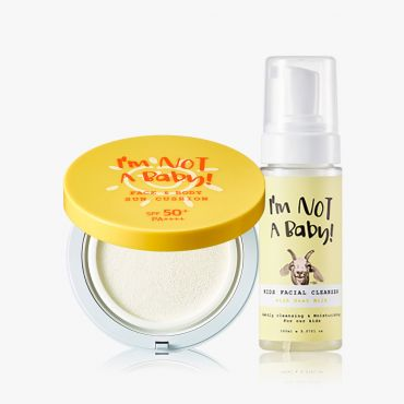 INAB_Kids Face and Body Sun Cushion Kids Facial Cleanser with Goat Milk 150ml