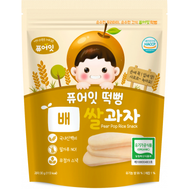 Organic Pear Pop Rice Snack (30g)