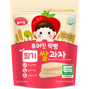 (6P) Organic Strawberry Pop Rice Snack (30g*6)