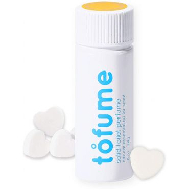 tofume - solid natural bathroom odor eliminator, deodorizer (30tablets)