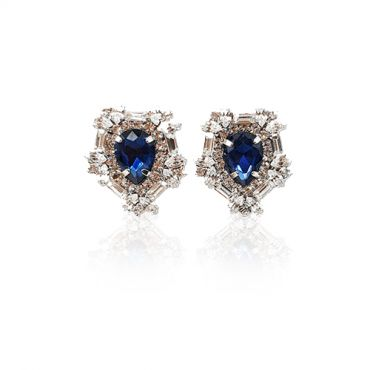 MINWHEE ART JEWELRY - The Dignity of The Queen, Sapphire earrings