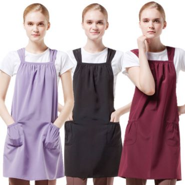 [Yodel] YA008 Shirring Shoulder Hair Salon Apron (3 Colors)