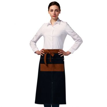 [Yodel] YA086 Denim Long Waist Server Hair Salon Apron