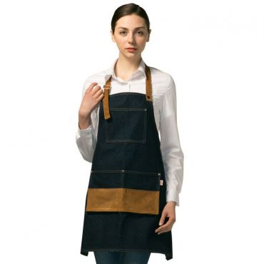 [Yodel] YA087 Denim Halterneck Server Hair Salon Apron