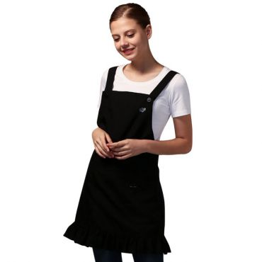 [Yodel] YA090 Frill on Bottom Hair Salon Apron