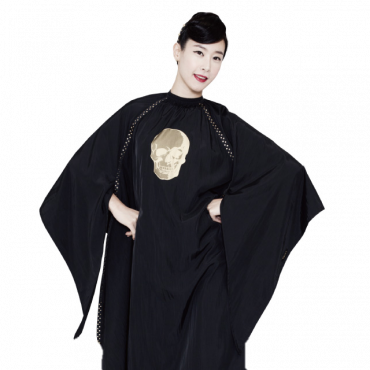 [Yodel] YC003 Skull Black Hair Salon Cut Cape