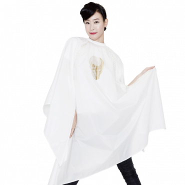 [Yodel] YC003 Skull White Hair Salon Cut Cape