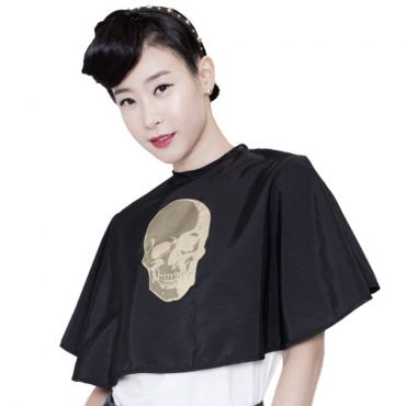 [Yodel] YD008 Skull Salon Hair Dry Cape (Black)