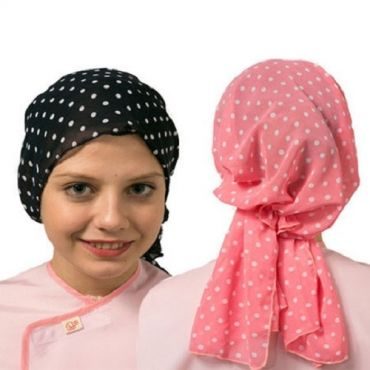 [Yodel] YH012 Polka Dot Hair Scarf with Long Strings (2 colors)