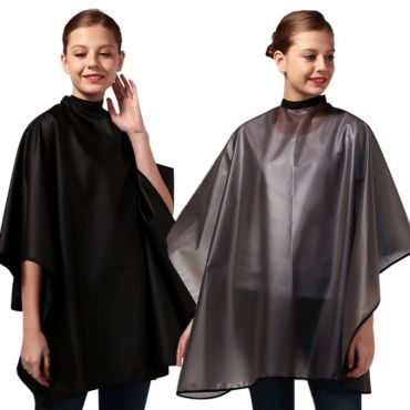 [Yodel] YP014 Coated Mesh Hair Salon Dyeing Color Cape (All Black/Gray)