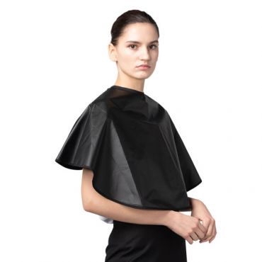 [Yodel] YP015 Small Form Coated Hair Salon Perm Cape (Black)