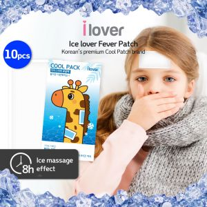Korea Ice lover cool Pack cooling patch summer cool (Attachment type) 10pcs