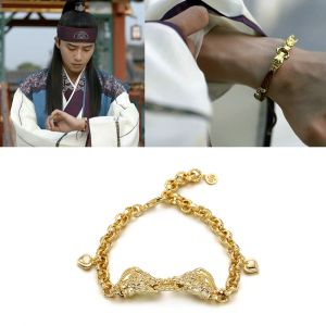 MINWHEE ART JEWELRY - Hwarang, Dragons Bracelet 2 Gold plating