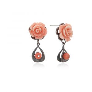 [MINWHEE ART JEWELRY] Rose Earrings