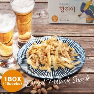 Hwangjini - Seasoned Dried Pollack 1Box(30g*10packs)