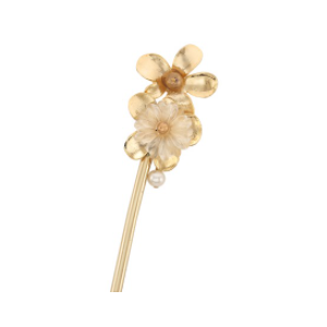 MINWHEE ART JEWELRY - Hotel Deluna IU, Pearl Flower Hairpin Gold plating