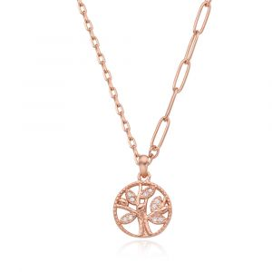 MINWHEE ART JEWELRY - Lies of lies, World tree Pendant necklace (Pink)