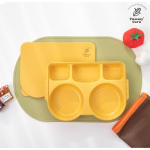 YUMMY CORN LUNCH BOX BABY KIDS PLATES FOR TODDLERS