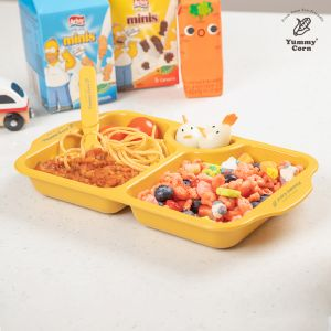 YUMMY CORN SNACK PLATE TRAYS FEEDING PLATES FOR BABY KIDS