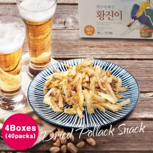 Hwangjini - Seasoned Dried Pollack 4Boxes(30g*40packs)