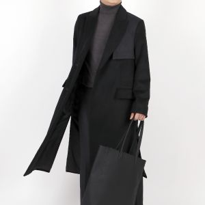 Extra Long Double Tim Coat ver2 (BLACK)