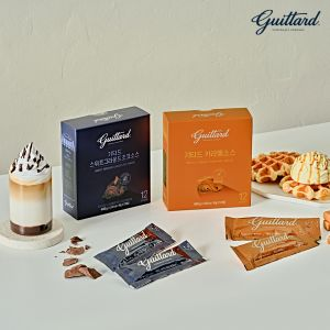 Guittard Present Set (Caramel Rich Creamy Caramel Sauce & Sweet Ground Chocolate Sauce)