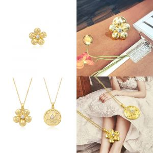 MINWHEE ART JEWELRY - Korean Drama The King, Oyat Flower/Circle Necklace & Oyat Badge